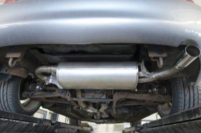 Muffler sound comparison for V8 car
