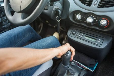automatic shift knobs with button